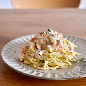 鮭と長芋のゆずクリームスパゲッティの画像