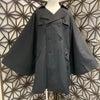 kiida ストライプ柄のポンチョジャケットの画像