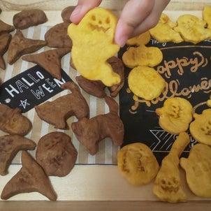 ハロウィンに!子供と一緒に簡単かぼちゃクッキー!の画像