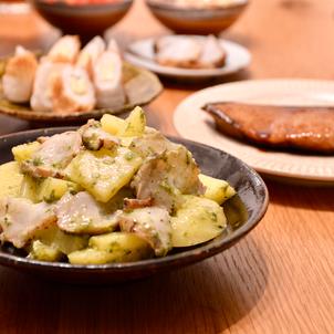 タコとジャガイモの青のりニンニクマヨ和えの画像