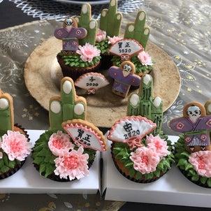 お正月カップケーキの画像