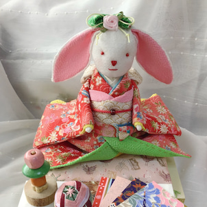ウサギのお嬢様できました。の画像