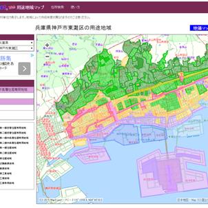 Map Expart Webシリーズ 地価・病院・用途地域などが調べられるネットアプリ地図の画像