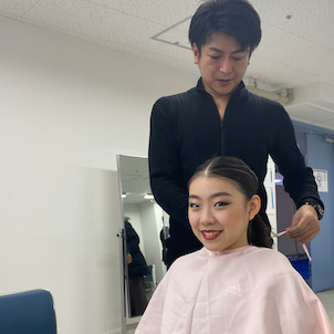 全日本フィギュア2019 紀平梨花選手へのインタビューの画像