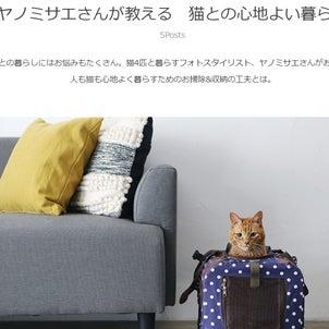 【連載】おウチの収納.comさんで猫との引っ越しやキャリーバッグについて紹介の画像