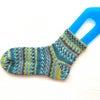 編み機で編んだ靴下緑シリーズの画像
