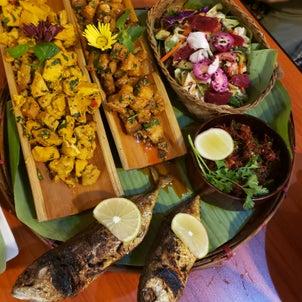 ミャンマーで民族料理の画像
