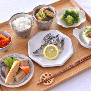 鯖の塩焼きのお昼ごはんと ✽ 毎日練習。の画像