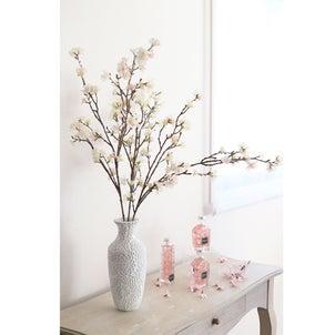 桜のアーティフィシャルフラワーでお花見気分♪おうちでお花見の画像