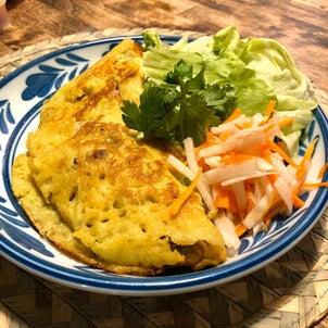 ターメリックでベトナムお好み焼きを作ってみた!の画像