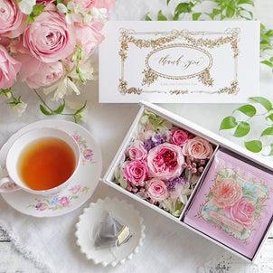 母の日にバラの香りの紅茶を メッセージもお届けします♪の画像