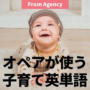 オペアがきっとよく使う子育て英単語の画像