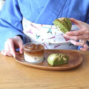 ホットケーキミックスでスタバ風抹茶スコーン(動画付)着物でスイーツ作り♪の画像