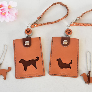 ■様々な犬種のパスケースの制作オーダーをお請けしています(Creema出品作品)の画像