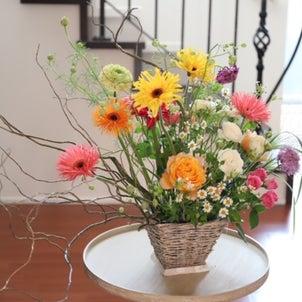 おうちでお花見 生花アレンジの画像