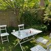 庭で寛ぎ場所とエクササイズ場所の画像