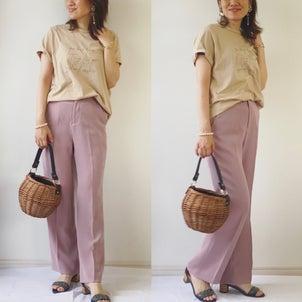 ラジオとイチゴミルクティーコーデ♡服の色と形と素材のことの画像