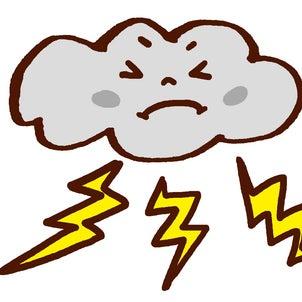 【韓国語】雷、雷鳴、電光・稲妻にびっくり!の画像