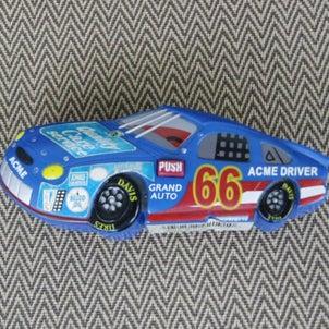 青いレーシングカーの「音の出るマグネット」の修理の画像