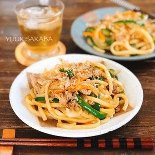 豚肉と定番野菜のシンプルおいしい焼うどんレシピ。の画像