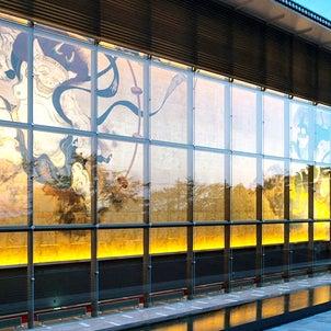 箱根の美術館で朝ヨガの画像
