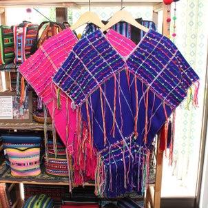 インパクトありすぎるカレン族手織り布の貫頭衣トップスの画像