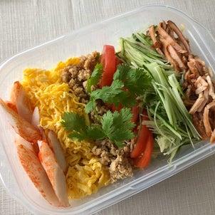 今日のお弁当 冷やし中華の画像