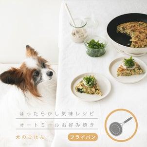 オートミールで作る!犬のお好み焼き(手作り犬ごはん)の画像