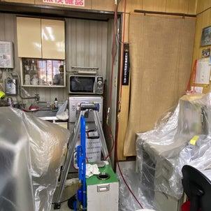 冷媒配管の洗浄作業の画像