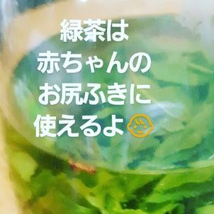お尻ふきに緑茶。の画像