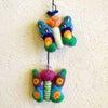 メキシコのぬいぐるみ「アニマリート」刺繍の蝶々[Pick Up]の画像