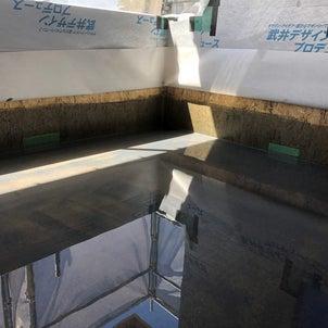 ベランダ満水テストの画像