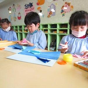 折り紙制作☆体操教室の画像