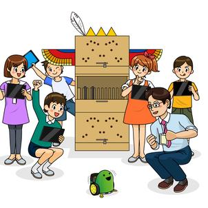 教育委員会、先生がたにオススメ!ダンボール製の!の画像