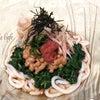 世田谷育ちのモロヘイヤで栄養たっぷりの『冷しモロヘイヤ納豆うどん』♪の画像