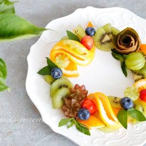【フルーツスタイリング】ドーナツ型に並べるだけ!フルーツリースの画像