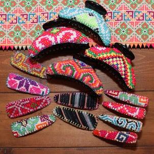 モン族刺繍ヘアアクセサリー各種が新入荷☆の画像