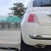 フィアット500   車のシート洗浄の画像