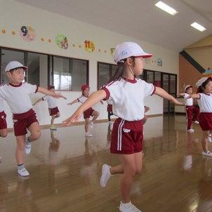 組体操・パラバルーン練習の画像