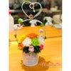 カフェで出張レッスン♬ナチュラルガーデン風5作品目とフラワードール愛花の画像