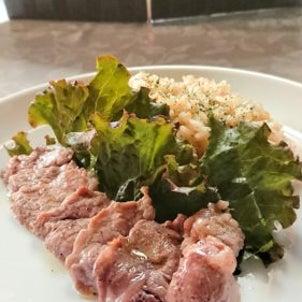 洋食家はるひです。今週の週替わりメニューは、『道産豚ヒレ肉のオリーブオイル煮&豆乳クリームチーズの画像