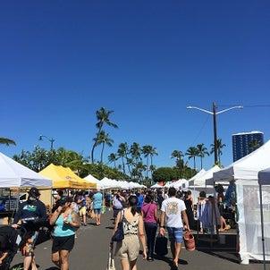 ハワイも8月 青い空で迎えましたの画像