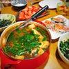 晩御飯に韓国料理の画像