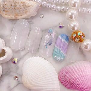 サマーデザイン☆貝殻ネイルの画像