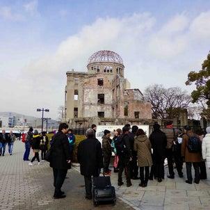 """""""原爆ドームと平和記念公園を訪れ、「広島世界遺産航路」に乗り、カモメたちの歓待を受けました(^""""の画像"""