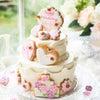 お母様手作りのウエディングケーキの画像