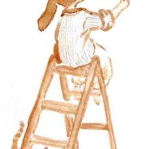 蜜蜂と 猫と わたしと ペンキ塗りの画像