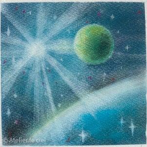宇宙アートの画像