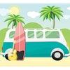 レトロなミニバスの画像