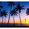 ハワイの夕日の画像